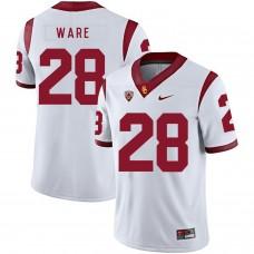 Men USC Trojans 28 Ware White Customized NCAA Jerseys