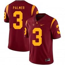 Men USC Trojans 3 Palmer Red Customized NCAA Jerseys