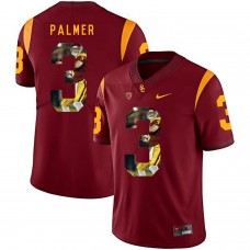 Men USC Trojans 3 Palmer Red Fashion Edition Customized NCAA Jerseys