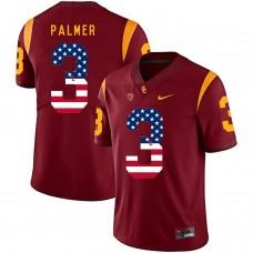 Men USC Trojans 3 Palmer Red Flag Customized NCAA Jerseys