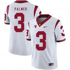 Men USC Trojans 3 Palmer White Customized NCAA Jerseys
