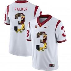 Men USC Trojans 3 Palmer White Fashion Edition Customized NCAA Jerseys
