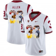 Men USC Trojans 33 Allen White Fashion Edition Customized NCAA Jerseys