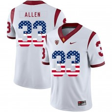 Men USC Trojans 33 Allen White Flag Customized NCAA Jerseys
