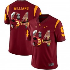 Men USC Trojans 34 Williams Red Fashion Edition Customized NCAA Jerseys