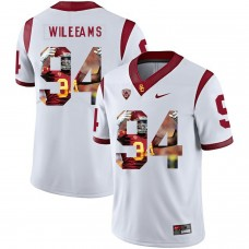 Men USC Trojans 34 Williams White Fashion Edition Customized NCAA Jerseys