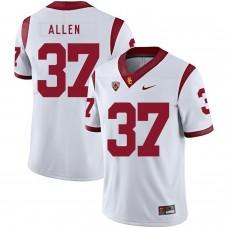 Men USC Trojans 37 Allen White Customized NCAA Jerseys