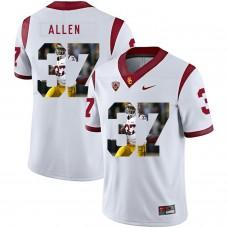 Men USC Trojans 37 Allen White Fashion Edition Customized NCAA Jerseys