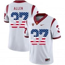 Men USC Trojans 37 Allen White Flag Customized NCAA Jerseys