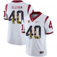 Men USC Trojans 40 Ellison White Fashion Edition Customized NCAA Jerseys