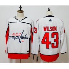 Men Washington Capitals 43 Wilson White Adidas Hockey Stitched NHL Jerseys