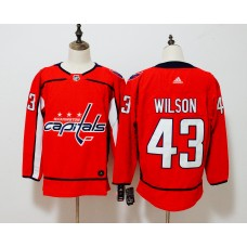 Men Washington Capitals 43 Wilson red Adidas Hockey Stitched NHL Jerseys