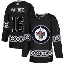 Men Winnipeg Jets 16 Matthirs Black Adidas Fashion NHL Jersey