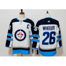 Men Winnipeg Jets 26 Wheeler White Hockey Stitched Adidas NHL Jerseys