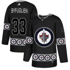 Men Winnipeg Jets 33 Byfuglien Black Adidas Fashion NHL Jersey