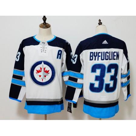 Men Winnipeg Jets 33 Dustin Byfuglien White Hockey Stitched Adidas NHL Jerseys