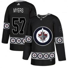 Men Winnipeg Jets 57 Myers Black Adidas Fashion NHL Jersey