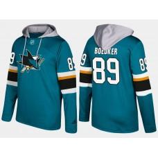 NHL Men San Jose sharks 89 mikkel boedker blue hoodie