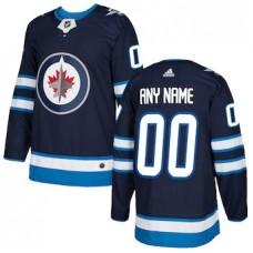 NHL Men adidas Winnipeg Jets Navy blue Customized Jersey