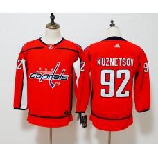 Women Washington Capitals 92 Kuznetsov red Hockey Stitched Adidas NHL Jerseys