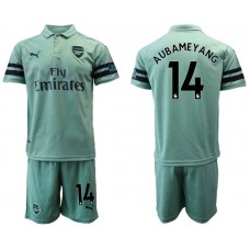 Men 2018-2019 club Arsenal away 14 green soccer jersey1