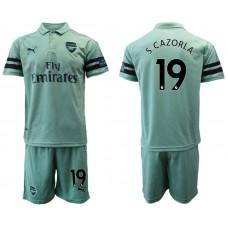Men 2018-2019 club Arsenal away 19 green soccer jersey