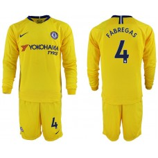 Men 2018-2019 club Chelsea away Long sleeve 4 yellow soccer jerseys