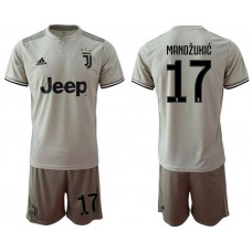 Men 2018-2019 club Juventus away 17 grey Soccer Jerseys