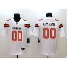 Men Cleveland Browns Custom  White Nike Vapor Untouchable Limited NFL Jerseys