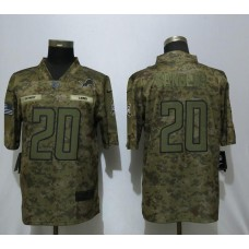 Men Detroit Lions 20 Sanders Nike Camo Salute to Service  Limited NFL Jerseys