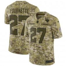 Men Jacksonville Jaguars 27 Fournette Nike Camo Salute to Service Retired Player Limited NFL Jerseys