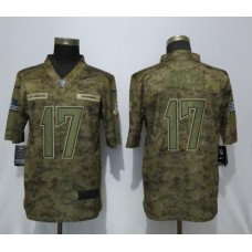 Men Los Angeles Chargers 17 Rivers Nike Camo Salute to Service Limited NFL Jerseys