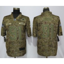 Men Miami Dolphins 91 Wake Nike Camo Salute to Service Limited NFL Jerseys