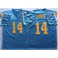 Men NFL Los Angeles Chargers 14 Fouts light blue Mitchell Ness jerseys