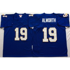 Men NFL Los Angeles Chargers 19 Alworth purple Mitchell Ness jerseys