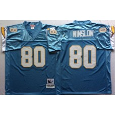 Men NFL Los Angeles Chargers 80 Winslow light blue Mitchell Ness jerseys