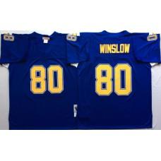 Men NFL Los Angeles Chargers 80 Winslow purple Mitchell Ness jerseys