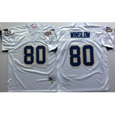 Men NFL Los Angeles Chargers 80 Winslow white Mitchell Ness jerseys