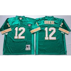 Men NFL Miami Dolphins 12 Griese green Mitchell Ness jerseys