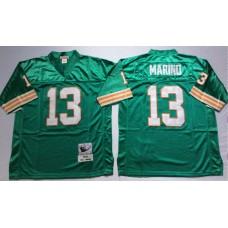 Men NFL Miami Dolphins 13 Marino green Mitchell Ness jerseys