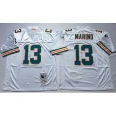 Men NFL Miami Dolphins 13 Marino white Mitchell Ness jerseys