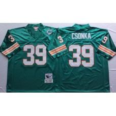 Men NFL Miami Dolphins 39 Csonka green Mitchell Ness jerseys