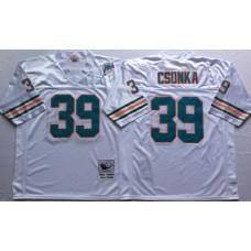 Men NFL Miami Dolphins 39 Csonka white Mitchell Ness jerseys