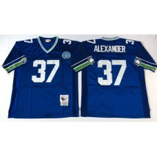 Men NFL Seattle Seahawks 37 Alexander blue Mitchell Ness jerseys