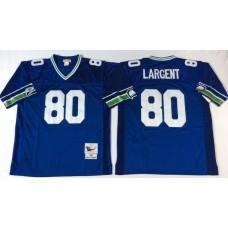 Men NFL Seattle Seahawks 80 Largent  blue Mitchell Ness jerseys