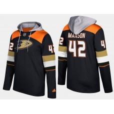 Men NHL Anaheim ducks 42 josh manson black hoodie