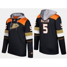Men NHL Anaheim ducks 5 korbinian holzer black hoodie