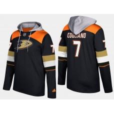 Men NHL Anaheim ducks 7 andrew cogliano black hoodie