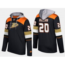 Men NHL Anaheim ducks retired 20 steve rucchin black hoodie