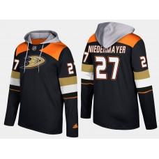 Men NHL Anaheim ducks retired 27 scott niedermayer black hoodie
